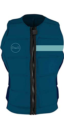 ONeill Mujeres Bahia Comp Watersports Waterski Jetski Wakeboarding Safety Impact Vest - Top - French Navy Abyss