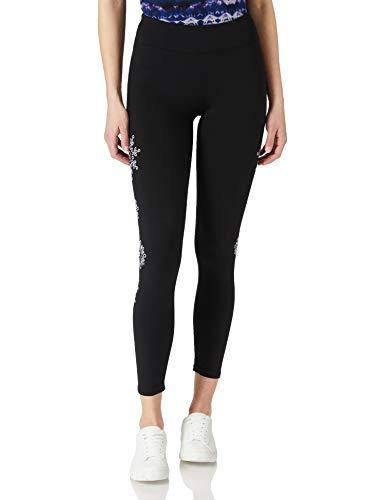 Desigual Legging Mandala Swiss EMB Pantalones Informales, Negro, L para Mujer