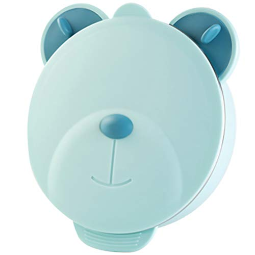 Tomaibaby Vajilla para Bebé Platos de 3 Compartimentos con Tapa Tazón de Alimentación de Aislamiento de Acero Inoxidable para Niños Pequeños Bebés Niños Niños Azul