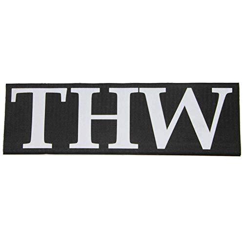 Unbekannt Rücken-Patch THW 33 x 10 cm Technisches Hilfswerk Abzeichen Reflektierend