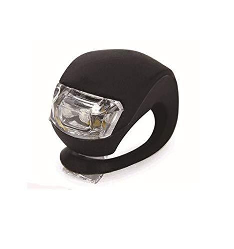 TriLance 2Pcs LED Silikon Mountainbike Fahrrad vorne Rückleuchten Set,Radfahren LED Lampe Fahrradlichter Fahrradlampe Fahrradlich Nebelscheinwerfer Fahrradrücklicht Fahrradbeleuchtung (Black)