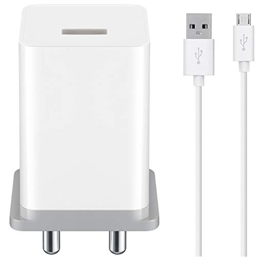 ShopMagics Fast Charger for Zen Cinemax Force, Admire Fab Q Plus, Cinemax Click, Admire Snap Charger Original Adapter Like Wall Charger | Mobile Fast Charger | Android USB Charger With 1 Meter Micro USB Charging Data Cable (2 Amp, OC3, White)