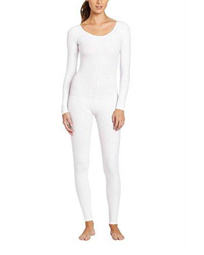 Unisex Cuerpo Completo Adult Carnaval Halloween Segunda Piel Disfraz Blanco L