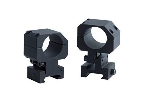 Monstrum Adjustable Height Picatinny Pair of Scope Rings | 1 inch Diameter
