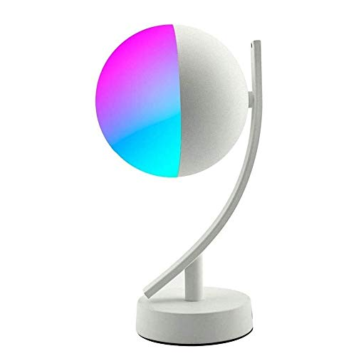 Wotbxchbbtde Timing LED lámpara de mesa, control inteligente de lámpara de mesa, escritorio LED lámpara de mesa 2 en 1, Ojo-protección, intensidad ajustable, Reloj despertador, ahorro de energía regul