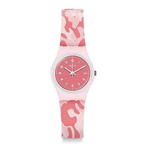 Swatch Reloj Analógico para Mujer de Cuarzo con Correa en Silicona LP157