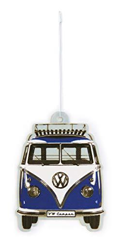 BRISA VW Collection - Volkswagen Luft-Erfrischer, Duft-Spender, Duft-Baum fürs Auto/KFZ mit VW T1 Bulli Bus Frontmotiv (Ocean/Blau)