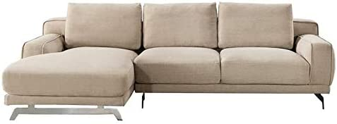 American Eagle Furniture Fabric Right Hand Facing Sectional In Cream Beige Furniture Decor
