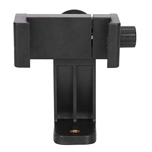 BASOYO Soporte vertical para trípode Soporte para teléfono inteligente/clip para teléfono inteligente iPhone Samsung Smart 2-1/4-3-5/8 pulgadas de ancho (adaptador de montaje)