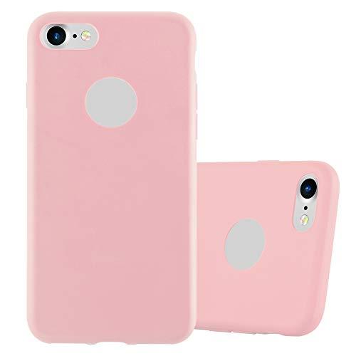 Cadorabo Funda para Apple iPhone 7 / 7S / 8 / SE 2020 en Candy Rosa - Cubierta Proteccíon de Silicona TPU Delgada e Flexible con Antichoque - Gel Case Cover Carcasa Ligera