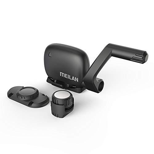 MEILAN C3 - Sensor inalámbrico de velocidad y cadencia para bicicleta (Bluetooth 4.0), para ordenador y aplicaciones de bicicleta, resistente al agua, se puede reemplazar la batería