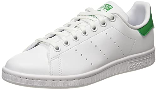 adidas Stan Smith J, Scarpe da Ginnastica, Ftwr White/Ftwr White/Green, 38 EU