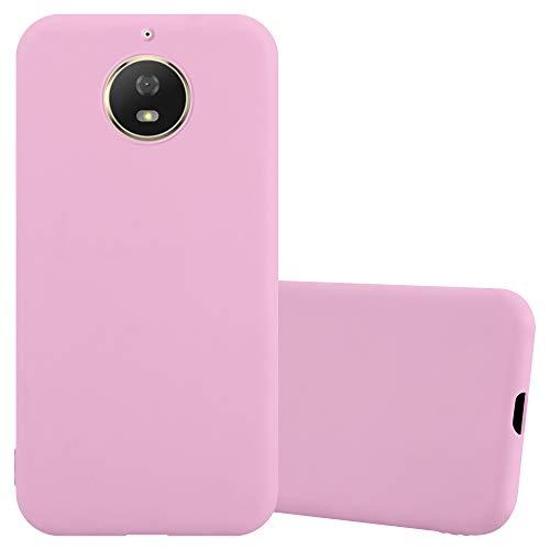 Cadorabo Funda para Motorola Moto G5 S en Candy Rosa - Cubierta Proteccíon de Silicona TPU Delgada e Flexible con Antichoque - Gel Case Cover Carcasa Ligera