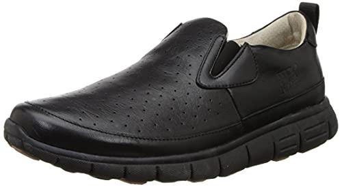 Woodland Men's Black Leather Moccasin-9 UK (GC 3018118)