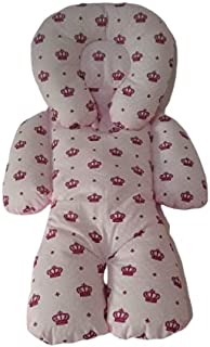 Almofada Protetora Redutor de Bebê Conforto Coroa Pink