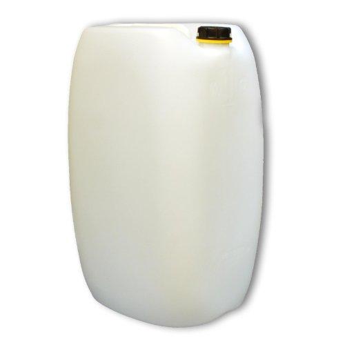 Wilai 60L Getränke- Wasserkanister Behälter Kübel Bottich Teildurchsichtig (naturfarben) mit Schraubdeckel DIN 61 | Lebensmittelecht | Indoor und Outdoor | BPA Frei | Made in Germany