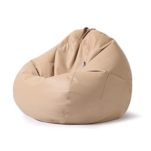 Bean Bag Funda para Silla Solo sin Relleno Funda reclinable para Jugadores Lazy Lounger Silla con Respaldo Alto Bean Bag Silla con Tres Bolsillos Laterales para Adultos y niños