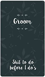 Groom Shit To Do Before I Do's: Small Blank Journal for Wedding Planning and Notes, Thoughts, Ideas, Reminders, Lists, to do, Funny Groom Gift