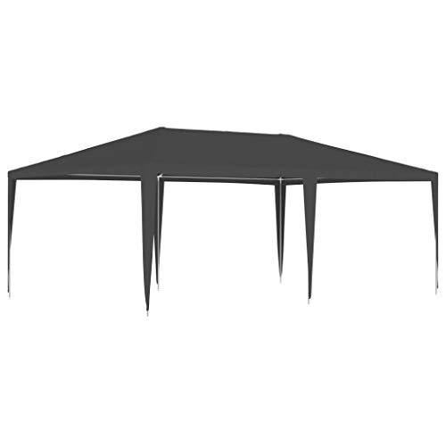 Festnight Gazebo Professionale 4x4 m/ 4x6 m Gazebo Impermeabile Protezione UV Tenda Giardino Sagre Eventi Mercati Esterno Struttura in Acciaio 90 g/m² Antracite