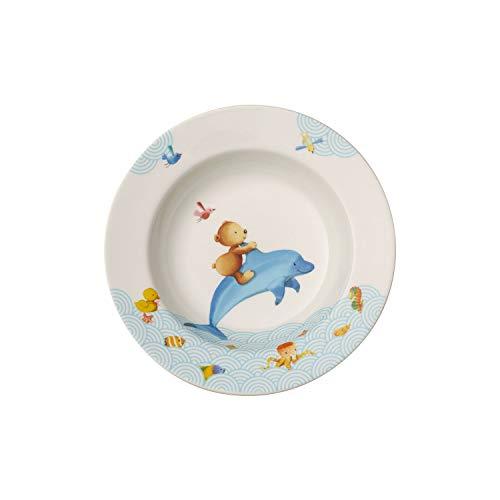 Villeroy & Boch Happy as a Bear Plato hondo infantil, 19,5 cm, Porcelana Premium, Blanco/Multicolor