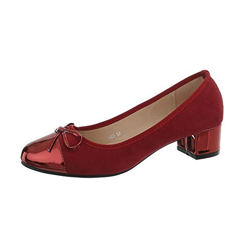 Ital-Design Damenschuhe Pumps Klassische Pumps Synthetik Rot Gr. 39