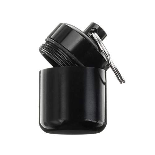 LIOOBO 3pcs Mini Conveniente Cartucho Llavero Caja de Almacenamiento de la píldora de la Caja de la píldora de la aleación de Aluminio para Viaje de Viaje al Aire Libre - (Negro)