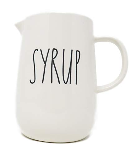Rae Dunn SYRUP Ceramic Syrup Dispenser Jar