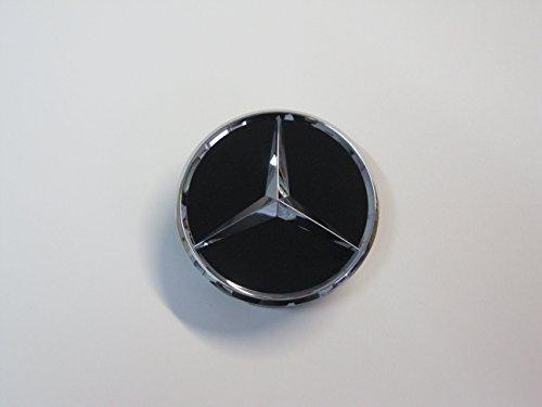 Mercedes-Benz Radnabenabdeckung Durchmesser ca. 55mm schwarz (schwarz glänzend)