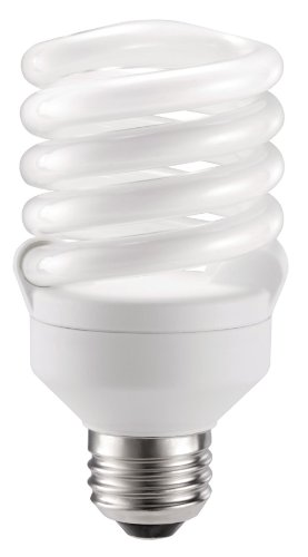 Philips LED 417089 Energy Saver Compact Fluorescent T2 Twister (A21 Replacement) Household Light Bulb: 2700-Kelvin, 18-Watt (75-Watt Equivalent), E26 Medium Screw Base, Soft White, 4-Pack