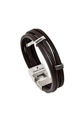 Photo de bracelet-en-cuir-marron-pour-homme-fait-main