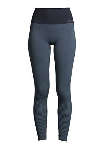 Casall Damen Sporthose Seamless Leggings Recyceheller Polyester Pushing Blau L