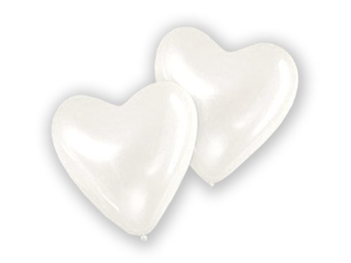 25 große Herzluftballons WEIß Umfang 80cm Valentinstag Hochzeit Dekoration LIEBE Herz Hochzeitsdeko Luftballons Ballons Party Verlobung Heiratsantrag Muttertag Geschenke Herzen Deko Herzballons