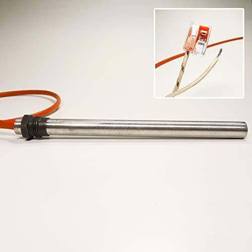 Glühzünder für Haas & Sohn Pelletöfen, 300 W, 3/8 Zoll Gewinde, Einbaulänge = 160 mm, Durchmesser = 12,5 mm mit dickerer Isolierung und Feuchtigkeitsschutz