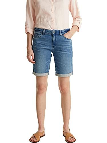 ESPRIT Damen 040EE1C307 Jeans-Shorts, 902/BLUE MEDIUM WASH, 28