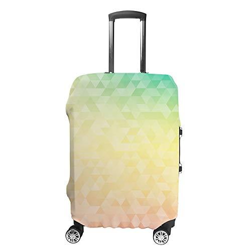 Haoxiang, copertura per valigia da viaggio, adatta per bagagli, sfondo geometrico colorato con poligoni triangolari