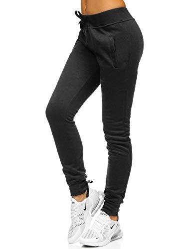BOLF Mujer Pantalón De Chándal Pantalones Deportivos de Algodón Entrenamiento Fitness Slim Fit F6F