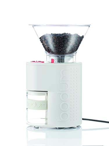 Bodum 10903-913EURO-3 BISTRO Kaffeemühle, Edelstahl, weiß