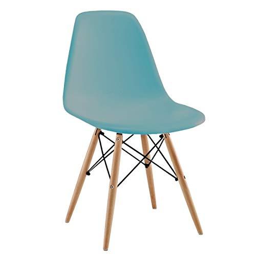 Silla Tow Wood - Azul Turquesa