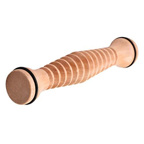 Healifty - Rullo massaggiante per piedi, in legno, multifunzione, massaggiatore per il corpo, per studenti e donne