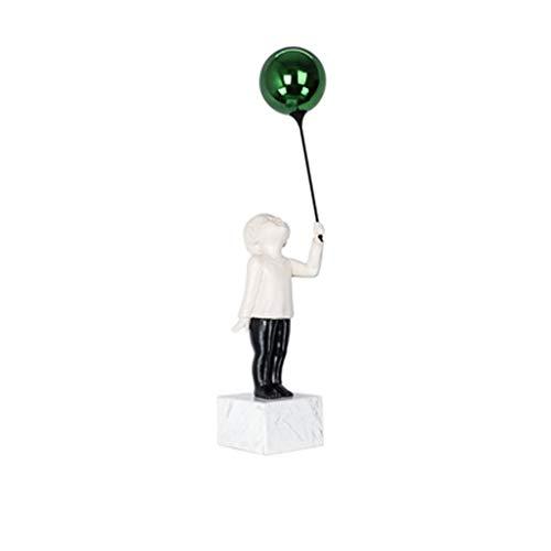 NYKK Decoración de Mesa Modelo Nórdico Moderna habitación Creativa Escultura Linda de Objetos Globo Infantil Sala de TV Accesorios Gabinete Escritorio de Adornos (Color : D)