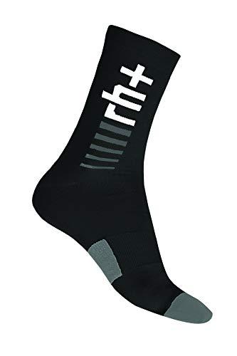 rh+ Icx9179 94Fl/XL Logo Thermolite Sock 15 Unisexe – Adulte, Black/Dark Grey