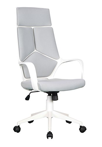 SuccessfulHome Ergonomic Office Chair, High Back Mesh Office Chair with Adjustable Armrest, Mesh Computer Chair with Lumbar Support, Office Computer Swivel Desk Task Chair- Black (White)