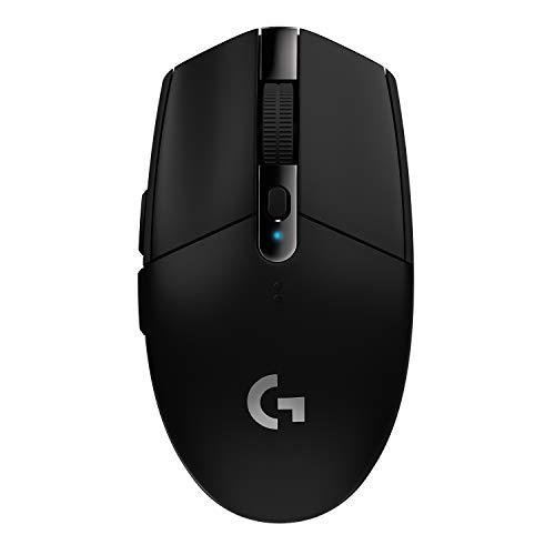 Logitech G305 Lightspeed Wireless Gaming Maus, Hero 12000 DPI Sensor, 6 Programmierbare Tasten, 250 Stunden Akkulaufzeit, Benutzerdefinierte Spielprofile, Leichtgewicht, PC/Mac - Schwarz