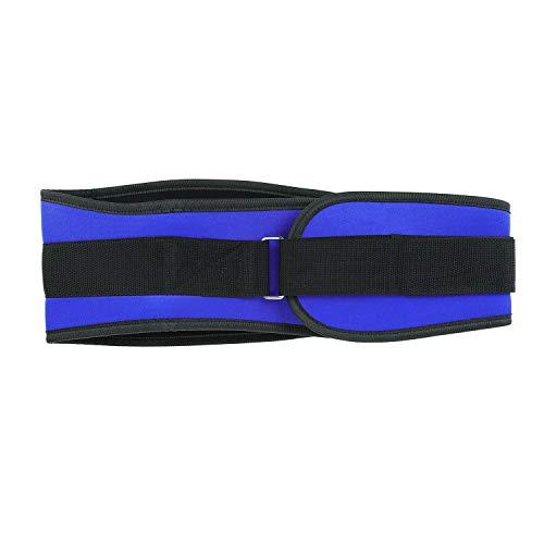 ITODA Trainingsgürtel Sport Bauchweggürtel Verstellbarer Gewichthebergürtel für Männer Fitnessgürtel Erwachsene Lendenwirbelstütze Herren Rückenbandage Unterstützung für Bodybuilding Fitness Blau M