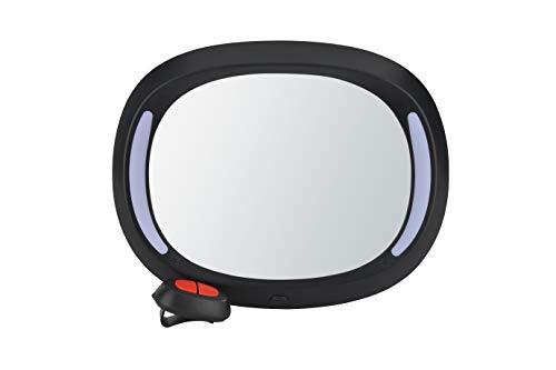 AltaBeBe AL1108 Luxus - Espejo para bebé con luz LED, color negro