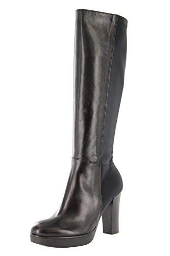Donna Piu Damen Stiefel schmalle Schaft Mix aus Glattleder und Strechmateial EU 35