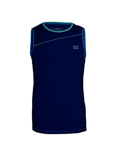 TAO Sportswear Atmungsaktives Herren Oberteil ohne Arm Tank TOP Cobalt 50