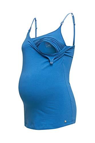 ESPRIT Maternity Damen Spaghetti top Nursing Umstandstop, Blau (Grey Blue 423), 42 (Herstellergröße: XL)