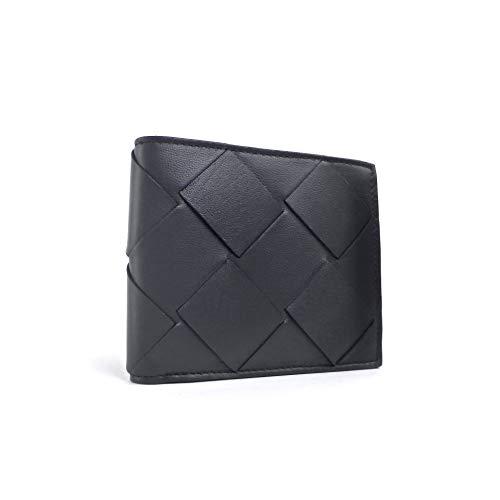 [ボッテガ ヴェネタ] 二つ折り 財布 イントレチャート コンパクト 札入れ 113993 ブラック メンズ [並行輸入品]