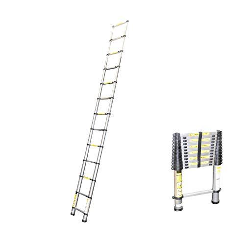 Telescopische ladder, uittrekladder van aluminium, telescoop, multifunctionele ladder, tot 4,40 m ladder